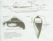 14 ft  2 man canoe - New never used , Fiberglass Canoe