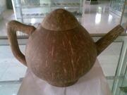 Art handycrafts of Indah Creation (Bali)coconut shell tea pot