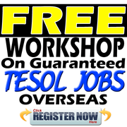 Free Workshop on Guaranteed TESOL Job Offers Overseas