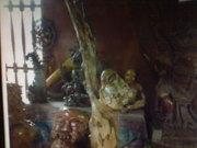 Art Gallery of MrM Wayan Wetja's(Bali)up two hands statue