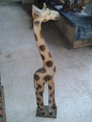 Wood Girraffe Statue
