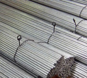 Straightened and cut annealed and galvanized wire