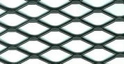 Expanded metal grill has high strength and no break or welds