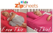 Kids Zip Sheets: Bed Sheets to Keep your Kids Warm & Secure All Night