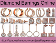 Buy Beautiful and Stylish Diamond Earrings Online