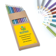 Metallic Full-Length Colouring Pencils | Personalised Colour Pencil