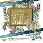 Moet and Mud Crabs Menu