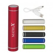 Personalised Cylinder Power Bank at Vivid Promotions Australia