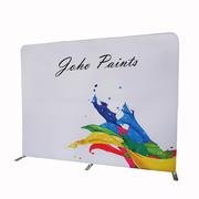 Custom Media Wall Banner, Fabric Curved Media Wall Backdrop
