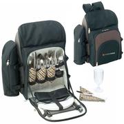 Custom Branded Kimberley 4 Setting Picnic Backpack Set Australia