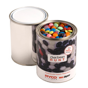 Printed Jelly Beans | Personalised Paint Tin Filled With Choc Beans