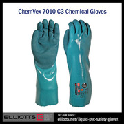 Chemical Protective Gloves - Liquid PVC Gloves